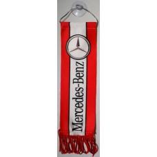 """вымпел """"Mercedes-Benz"""", красный фон"""