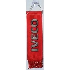 """вымпел """"IVECO"""", красный фон"""