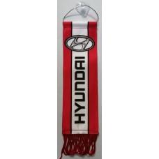 """вымпел """"Hyundai"""", красный фон"""