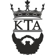 """вырез. """"КТА (борода)"""" черный"""