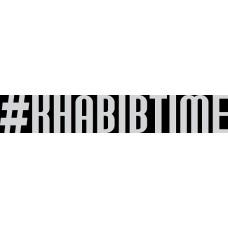 """вырез. """"#KHABIBTIME"""" (белый)"""