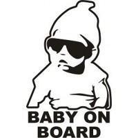 "вырез. ""baby on board"" (черный)"