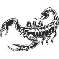 """вырез. """"Скорпион"""" (черный), комплект - 2 шт."""