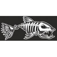 """наклейка вырез. """"Рыба (скелет)"""" (белый)"""