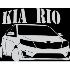 "наклейка вырез ""KIA rio №2"" (белый)"