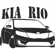 """наклейка вырез """"KIA rio №2"""" (черный)"""