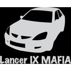 """вырез """"Lancer IX MAFIA"""" (белый), упаковка - 2 шт."""