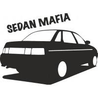 """вырез """"sedan mafia"""" (черный), упаковка - 2 шт."""