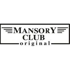 """вырез. """"mansory club"""" (черный)"""