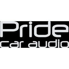 """наклейка вырез. """"Pride car audio"""" (белый)"""
