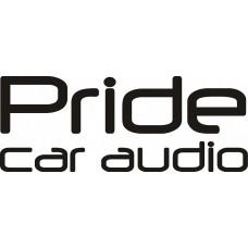 """наклейка вырез. """"Pride car audio"""" (черный), упаковка - 2 шт."""