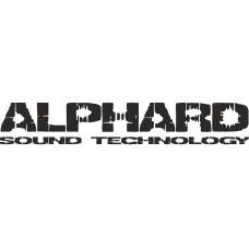 """наклейка вырез. """"ALPHARD №2"""" (черный)"""