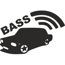 """наклейка вырез """"bass"""" (черный)"""