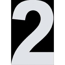 """вырез. """"2"""" (белый), упаковка - 3 шт."""