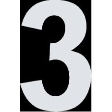 """вырез. """"3"""" (белый), упаковка - 3 шт."""