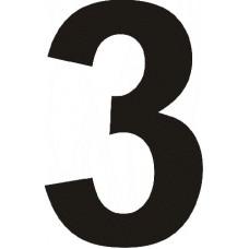 """вырез. """"3"""" (черный), упаковка - 3 шт."""