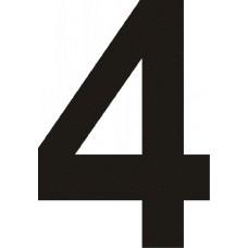 """вырез. """"4"""" (черный), упаковка - 3 шт."""
