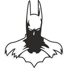 """вырез """"Бэтмен №2"""" (черный), упаковка - 2 шт."""