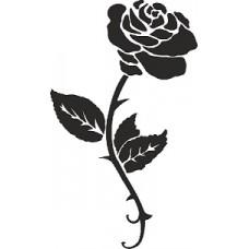 """вырез """"Цветок"""" (черный), упаковка - 6 шт."""