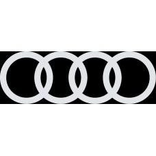 """наклейка вырез """"Эмблема Audi"""" (белый)"""