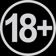 """вырез. """"18+"""" (белый), упаковка - 2 шт."""
