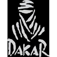 "наклейка вырез ""DAKAR"" (белый)"