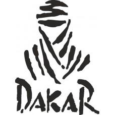 """наклейка вырез """"DAKAR"""" (черный)"""