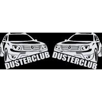 """вырез. """"Duster Club"""" (белый), 2 комплекта (4 шт.)"""