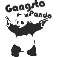 """вырез """"Gangsta Panda"""" (черный), упаковка - 4 шт."""
