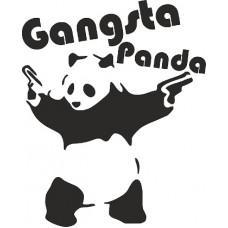 """наклейка вырез """"Gangsta Panda"""" (черный), упаковка - 4 шт."""