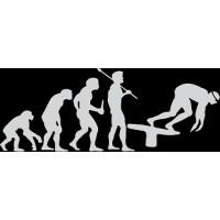 """вырез. """"Эволюция (пловец)"""" (белый), комплект - 2 шт."""