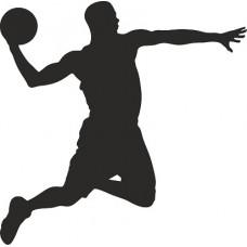 """вырез. """"Баскетболист №2"""" (черный)"""