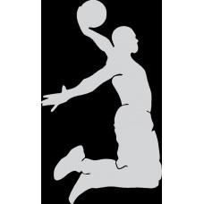 """вырез. """"Баскетболист"""" (белый), упаковка - 2 шт."""