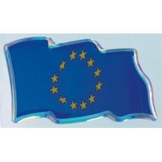 объем. EUR-флаг (развевающийся) голография, комплект - 2 шт.