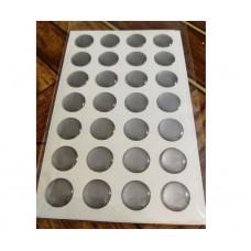 объем. 1,2 см. (серебро) упаковка - 28 шт.