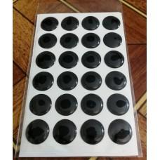 объем. 1,5 см. (черный) упаковка - 24 шт.