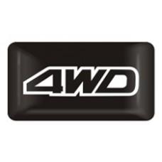 "наклейка объем. ""4WD"", упаковка - 4 шт."
