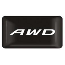 "наклейка объем. ""AWD"", упаковка - 4 шт."