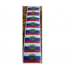 """объем. флаг """"Россия (с гербом)"""" упаковка - 8 шт."""