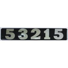 """объем. модификация КАМАЗ """"53215"""" металлизированная, черный"""