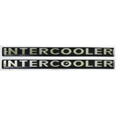 """объем. """"INTERCOOLER"""" металлизированная, черный, комплект - 2 шт."""