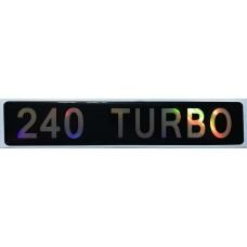 """наклейка объем. """"240 TURBO"""""""