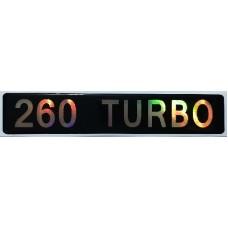 """наклейка объем. """"260 TURBO"""""""