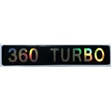 """наклейка объем. """"360 TURBO"""""""