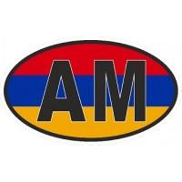 "наклейка ""Армения (AM, флаг)"", упаковка - 5 шт."