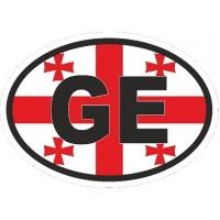 "наклейка ""Грузия (GE, флаг)"", упаковка - 5 шт."