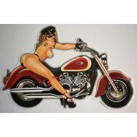 """""""Moto Girl"""" бордо, упаковка - 5 шт."""
