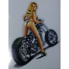 """наклейка """"Moto Girl"""" зеленый, упаковка - 5 шт."""
