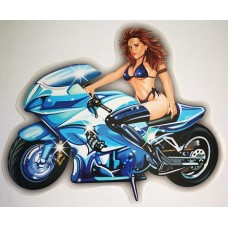 "наклейка ""Moto Girl"" синий, упаковка - 5 шт."
