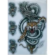 """наклейка """"Дракон с тигром"""""""